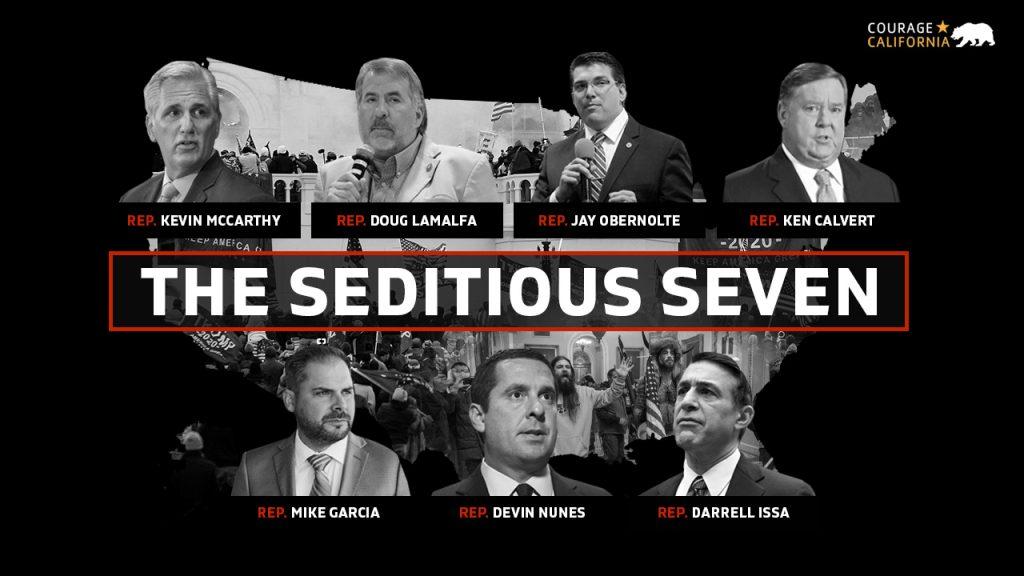 California's seditious members of Congress
