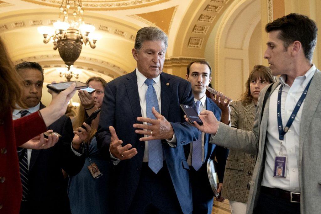 Senator Joe Manchin at the U.S. Capitol